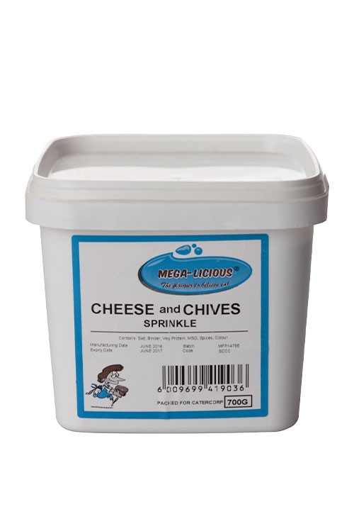 Megalicious Cheese & Chives sprinkle in bucket