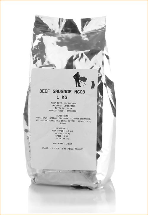 nou gaan ons braai beef sausage spice in foil packet