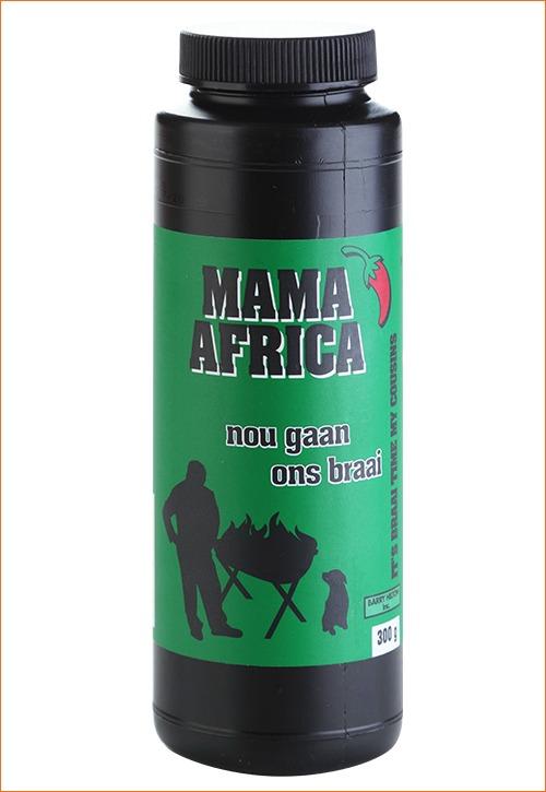 Nou Gaan Ons Braai Mama Africa spice in shaker