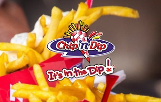 Chip 'n Dip logo on chips in packet