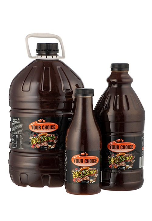 Your Choice BBQ Sauce in different size bottles