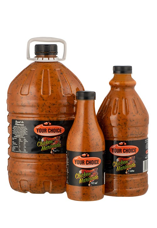 Your Choice Chicken Marinade in different size bottles