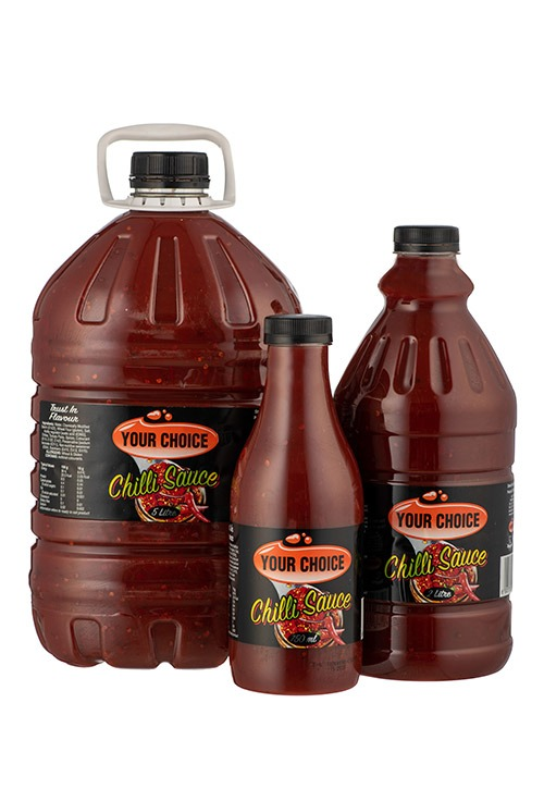 Your Choice Chilli Sauce in different size bottles