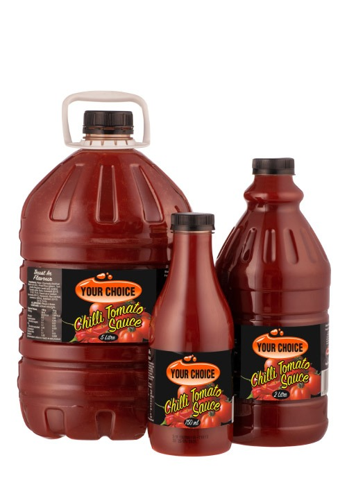Your Choice Chilli Tomato Sauce in different size bottles