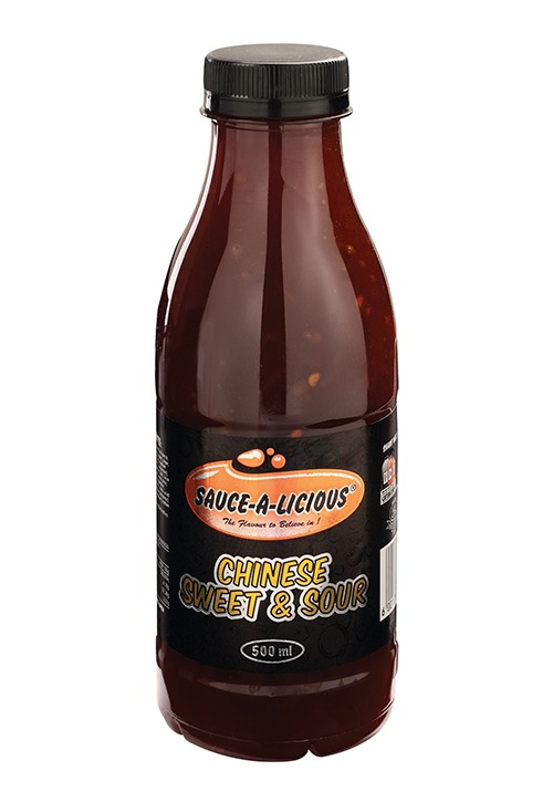 Sauce-a-licious Chinese sweet & sour sauce in 500ml bottle