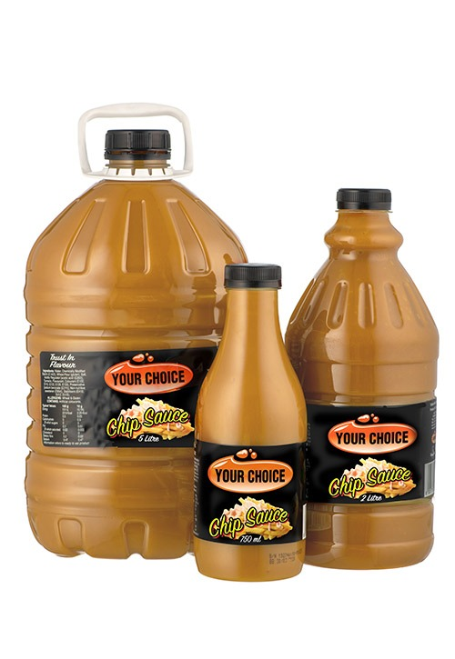 Your Choice Chip Sauce in different size bottles