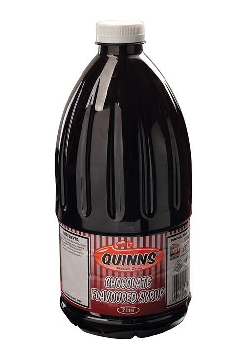 Quinns chocolate flavoured syrup in 2 litre bottle