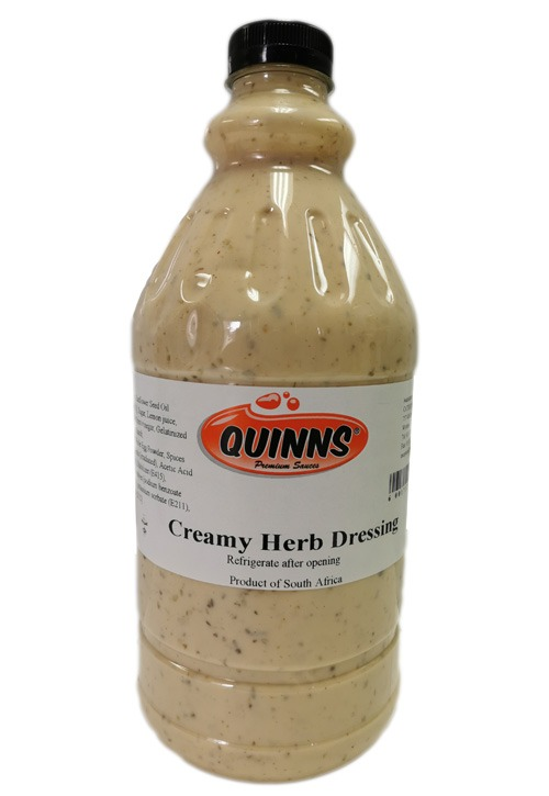Quinns Creamy Herb Dressing in bottle