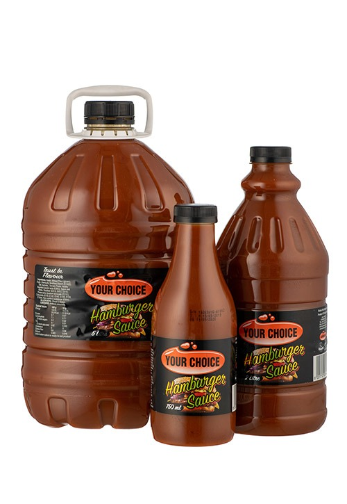 Your Choice Hamburger Sauce in different size bottles