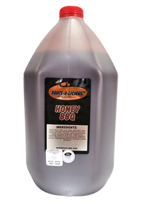 Saucealicious Honey BBQ in 5 litre bottle