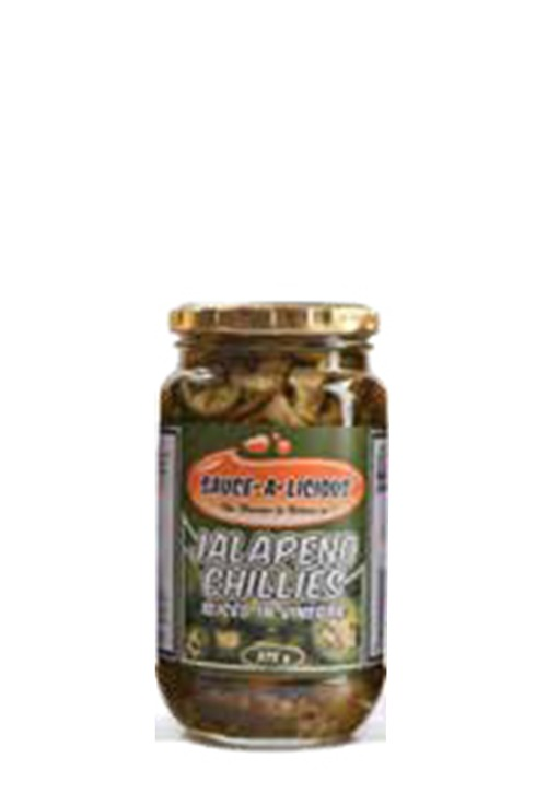 Sauce-a-licious Jalapeno Chillies in glass jar