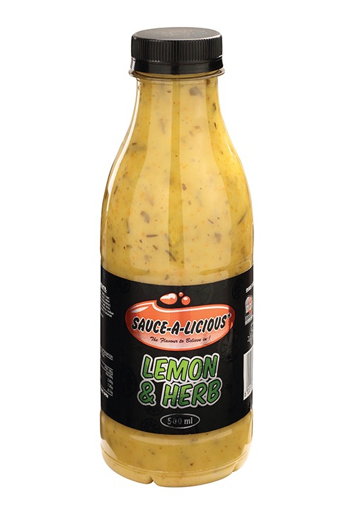 Sauce-a-licious Lemon & Herb sauce in 500ml bottle