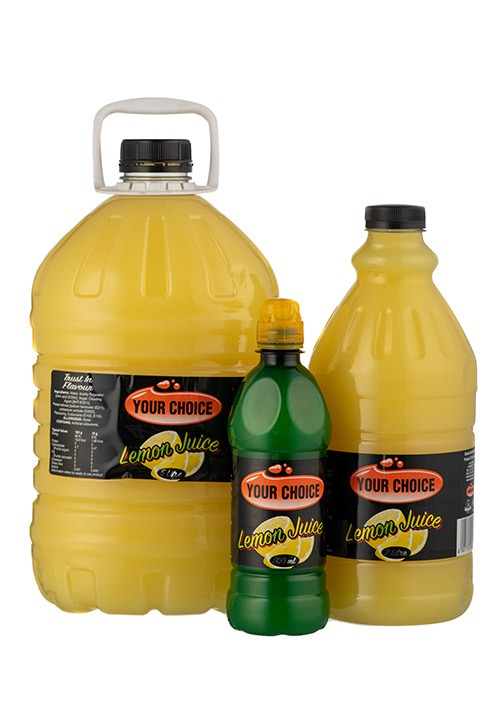 Your Choice Lemon Juice in different size bottles