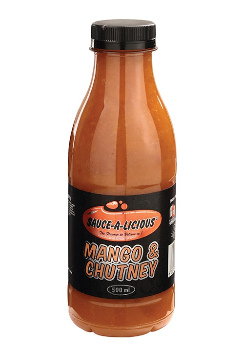 sauce-a-licious mango & chutney sauce in 500ml bottle