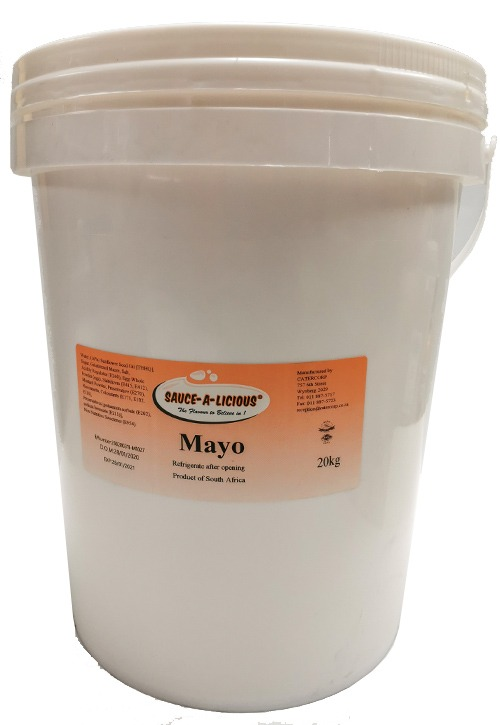 Sauce-a-licious Mayo in bucket