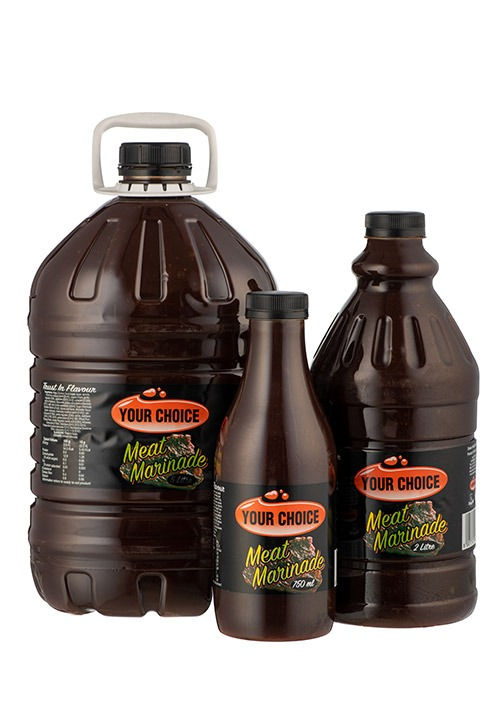 Your Choice Meat Marinade in different size bottles