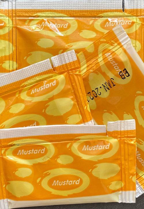 mustard sachets