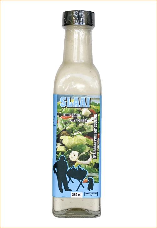Nou Gaan Ons Braai Slaai dressing in bottle