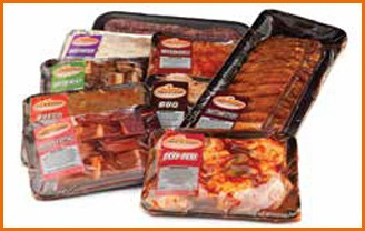 meat packaged in trays