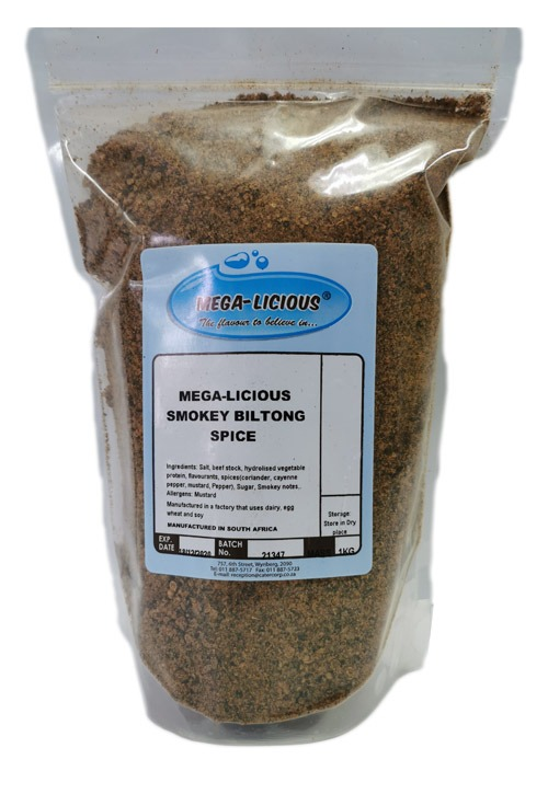 Megalicious Smokey Biltong Spice in a packet