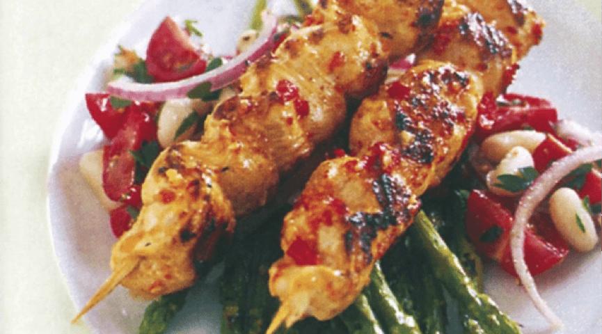 Sweet Chilli chicken kebabs