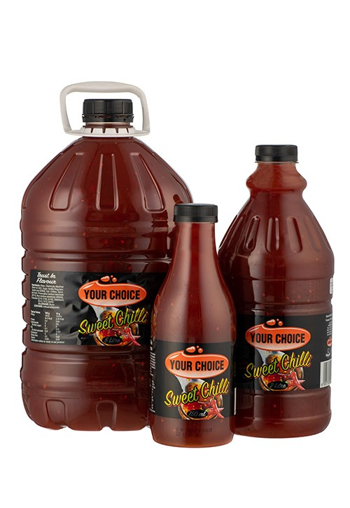 Your Choice Sweet Chilli in various size bottles