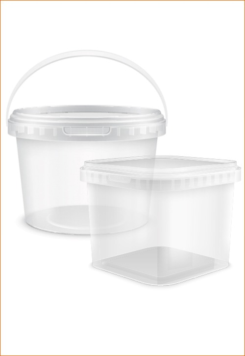 Round and Square tubs with lids