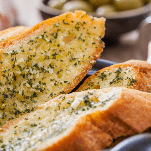 Garlic Bread in dish