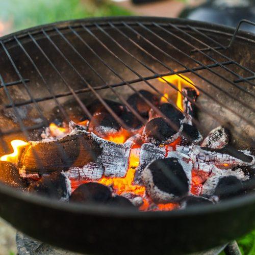 Coals burning in braai