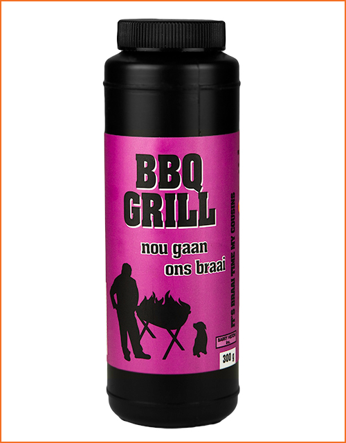 Nou Gaan Ons Braai BBQ Grill spice in 300g shaker
