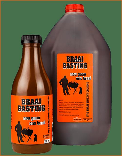 Nou Gaan Ons Braai Braai Basting sauce in 750ml and 5L bottles