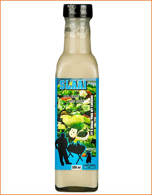 Nou Gaan Ons Braai Slaai in 250ml glass bottle