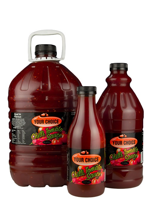 Your Choice Chilli Tomato Sauce in 750ml, 2L and 5L bottles