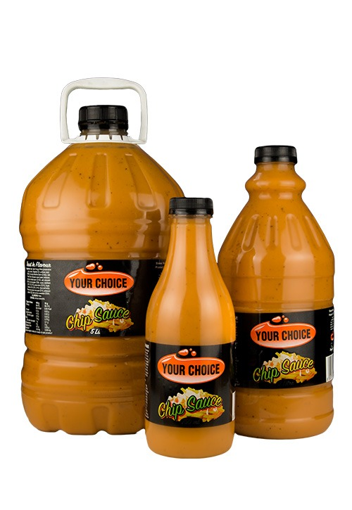 Your Choice Chip Sauce in 750ml, 2L and 5L bottles