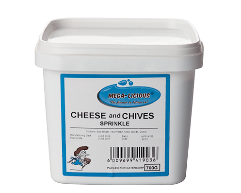 Megalicious cheese & chives spice in 700g bucket