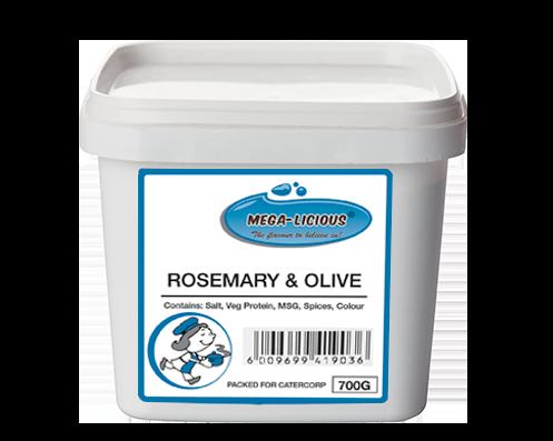 Megalicious Rosemary & Olive seasoning in bucket