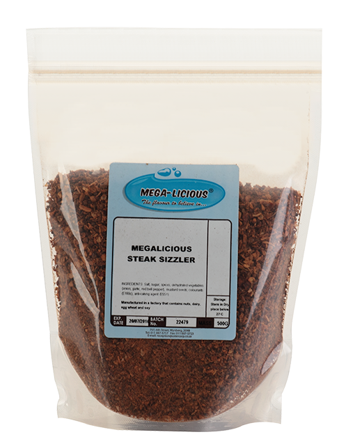 Megalicious Steak Sizzler spice in bag