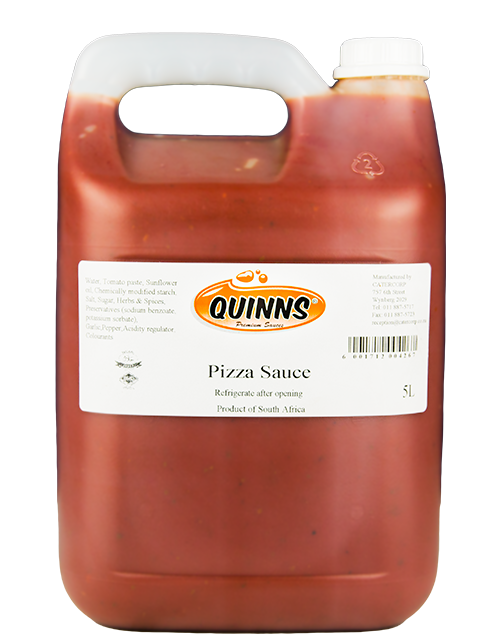 Quinns Pizza Sauce in jerry can