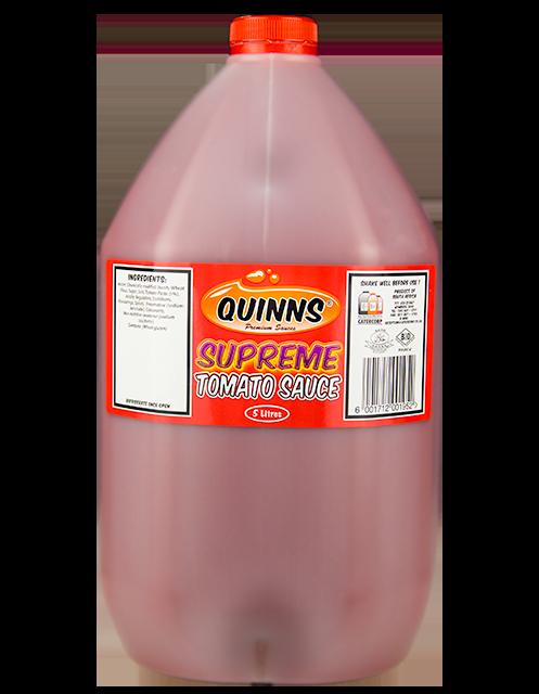 Quinns Supreme Tomato Sauce in 5L bottle