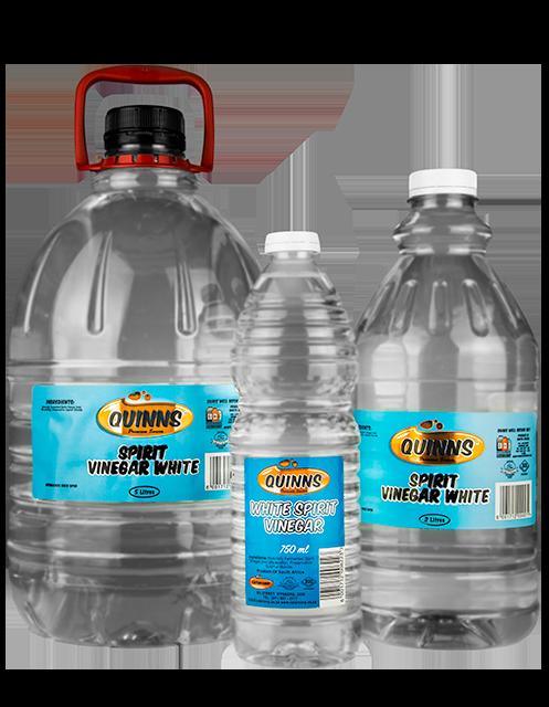 Quinns White Spirit Vinegar in 750ml, 2L and 5L bottles