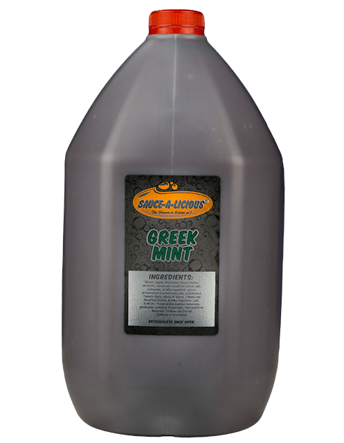 Sauce-a-licious Greek Mint sauce in 5L bottle