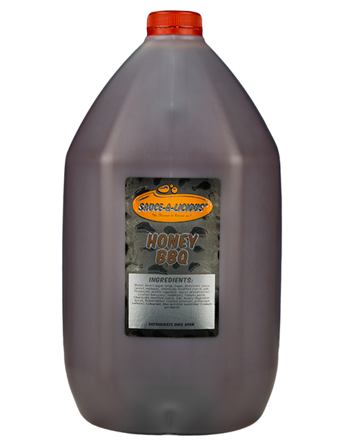 Sauce-a-licious Honey BBQ sauce in 5L bottle