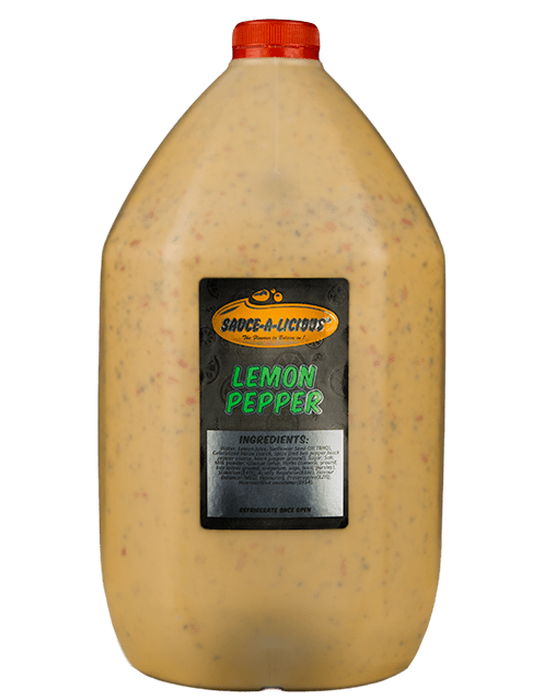 Sauce-a-licious Lemon Pepper sauce in 5L bottle
