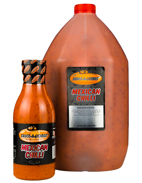 Sauce-a-licious Mexican Chilli sauce in 500ml and 5L bottles