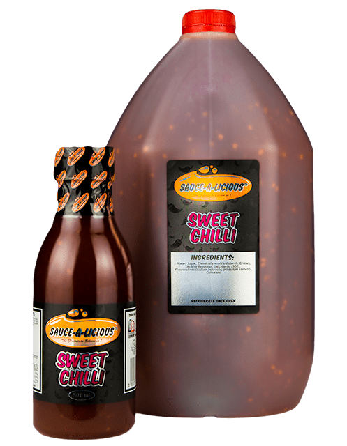 Sauce-a-licious Sweet Chilli sauce in 500ml and 5L bottles