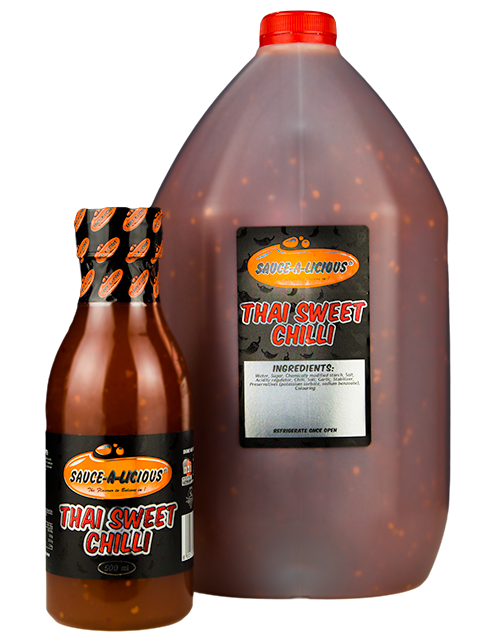Sauce-a-licious Thai Sweet Chilli sauce in 500ml and 5L bottles