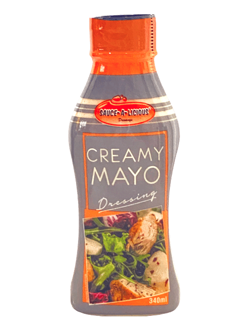 Saucealicious Creamy Mayo Dressing in squeeze bottle