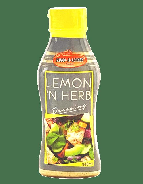 Saucealicious Lemon 'n Herb Dressing in squeeze bottle